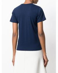 Comme des Garçons - Blue Logo T-shirt - Lyst