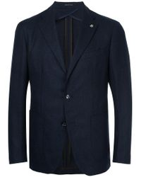 Tagliatore | Blue Two Button Blazer for Men | Lyst