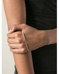 Gaydamak - Metallic Diamond Hand Bracelet - Lyst