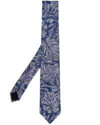 Cerruti 1881 - Blue Floral Print Tie for Men - Lyst