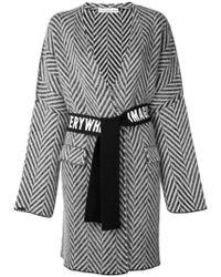 Golden Goose Deluxe Brand - Blue Chevron Belted Wrap Coat - Lyst