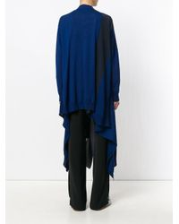Stella McCartney - Blue Asymmetric Cardigan - Lyst