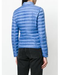 Peuterey - Blue Zipped Padded Jacket - Lyst