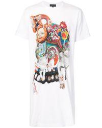 Comme des Garçons - White Longline Graphic Print T-shirt for Men - Lyst