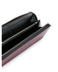 COACH Red Pebbled Zip Around Wallet