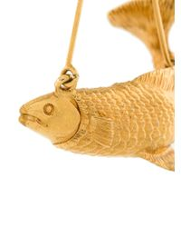 Givenchy - Metallic Fish Earring - Lyst