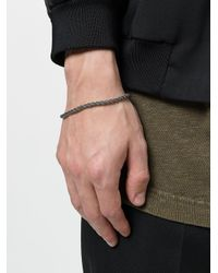 Emanuele Bicocchi - Metallic Twisted Thin Bracelet for Men - Lyst