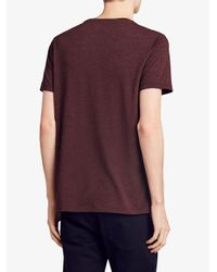 Burberry - Red Logo Print T-shirt for Men - Lyst