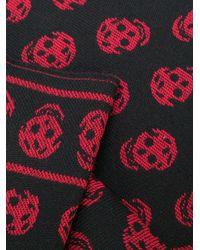 Alexander McQueen | Red Skull Knit Scarf for Men | Lyst