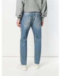 Golden Goose Deluxe Brand - Blue Distressed Slim-fit Jeans for Men - Lyst