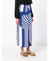 Erika Cavallini Semi Couture - Blue Striped Maxi Skirt - Lyst