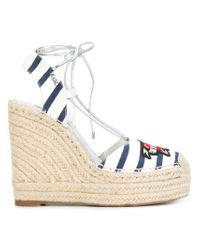 Karl Lagerfeld - White Kamini Hi Karl The Sailor Sandals - Lyst