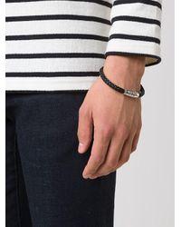 Tateossian - Black Braided Bracelet for Men - Lyst