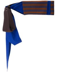 Marni - Blue Ribbed Knitted Belt - Lyst