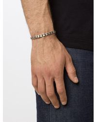 M. Cohen - Metallic Faceted Bead Bracelet for Men - Lyst