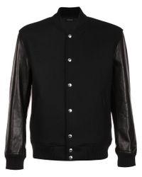 Christian Dada - Black Classic Stadium Jacket for Men - Lyst