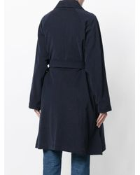 P.A.R.O.S.H. - Blue Bow Tied Coat - Lyst