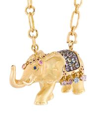 Aurelie Bidermann - Metallic 'indian Wedding' Couture Diamond, Sapphire And Ruby Necklace - Lyst