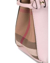 Burberry - Pink Mini 'banner' Tote - Lyst