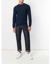 Giorgio Armani - Blue Perfectly Fitted Sweater for Men - Lyst