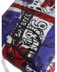 Burberry - Blue Zip-top Doodle Print Pouch - Lyst
