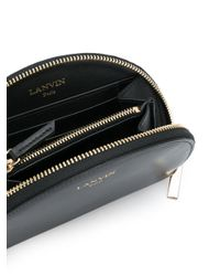 Lanvin - Black Half Moon Wallet - Lyst