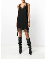 IRO Black Lace Inserts Cami Dress