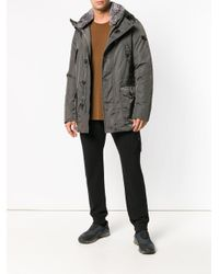 Peuterey - Green Rabbit Fur Trimmed Jacket for Men - Lyst