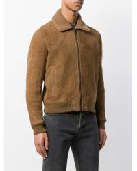 Saint Laurent Brown Zipped Fitted Jacket for men