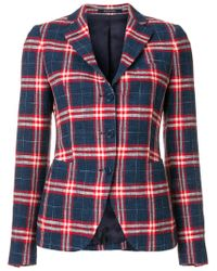 Tagliatore Blue Checked Blazer
