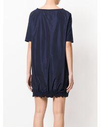 Moncler Blue Short-sleeve Sweater Dress