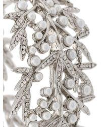 Oscar de la Renta - Gray Bamboo Leaf Bracelet - Lyst