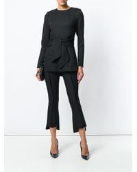 Misha Collection Black Cropped Exposed Seam Trousers