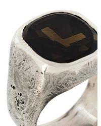 Tobias Wistisen - Metallic Stoned Ring for Men - Lyst