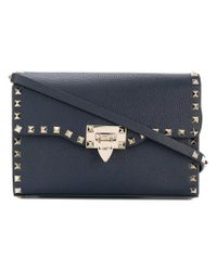 Valentino - Blue Garavani Free Rockstud Shoulder Bag - Lyst