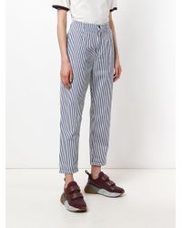 Carhartt - Blue Striped Tapered Trousers - Lyst