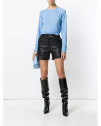 Versace Blue Cropped Jumper