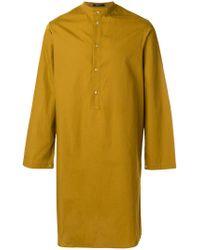 Qasimi - Yellow Long Tunic Shirt for Men - Lyst