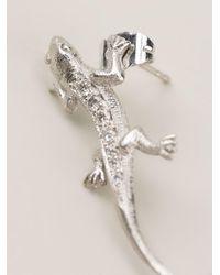 Wouters & Hendrix - Metallic 'lizard' Diamond Earring - Lyst
