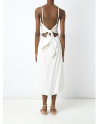 Andrea Marques White Midi Jumpsuit