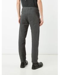 Label Under Construction - Gray Regular Trousers for Men - Lyst