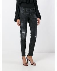 DSquared² - Black Skinny Microstudded Jeans - Lyst