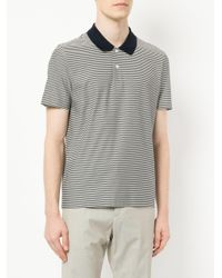 Cerruti 1881 - Black Striped Polo Shirt for Men - Lyst