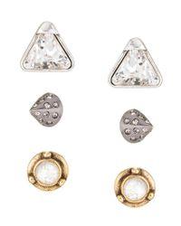 Camila Klein - Blue Three Earrings Set - Lyst