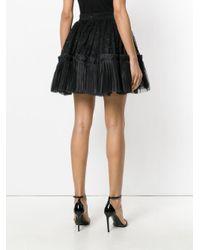 Amen - Black Full Lace Pleated Skirt - Lyst