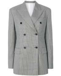 Calvin Klein | Black Double-breasted Tweed Blazer | Lyst