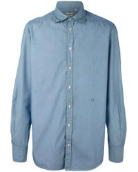 Massimo Alba - Blue Striped Button Down Shirt for Men - Lyst