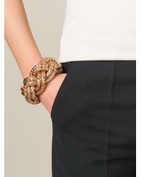 Lara Bohinc - Metallic Large Plait Bangle - Lyst