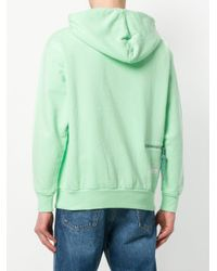 Aries - Green Zipped Hoodie for Men - Lyst