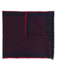 Gucci - Blue Gg Supreme Scarf for Men - Lyst